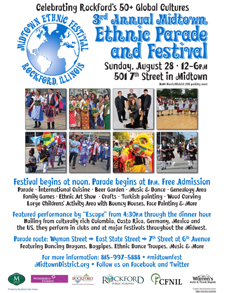 2016 Midtown Ethnic Parade & Festival Flyer