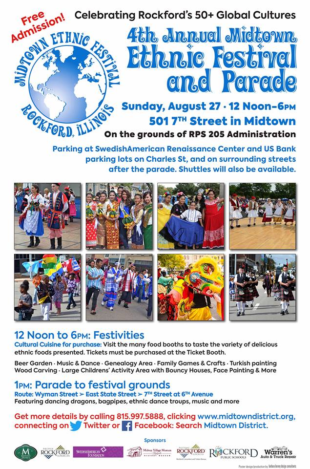Midtown Ethnic Parade and Festival 2017 Flyer